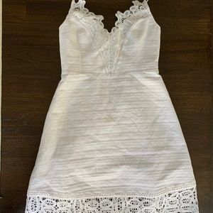 Laundry White Sundress with Lace Accent Sz 6
